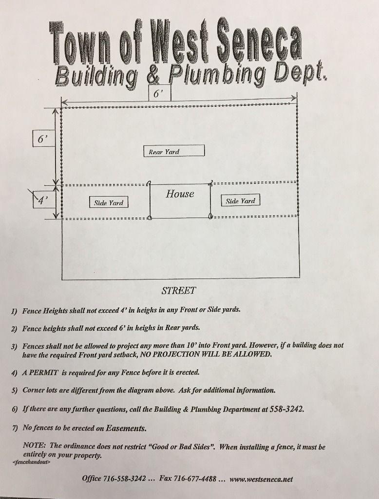 Fence Information & Requirements :: West Seneca